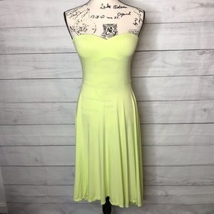 Victoria's Secret neon strapless high low dress
